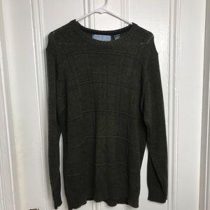 Oscar de la Renta long sleeve green sweater mens